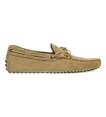 TODS Gommino heaven driving shoes in suede (Beige