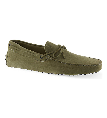 TODS 122 driver shoes (Green
