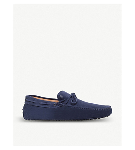 TODS Gommino heaven driving shoes in suede (Blue
