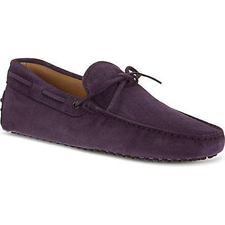 TODS Gommino heaven driving shoes in suede (Purple