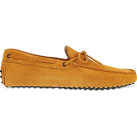TODS Gommino Driving Shoes in Suede (Yellow