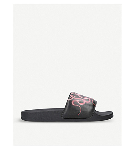 MARCELO BURLON Snake slides (Blk/red