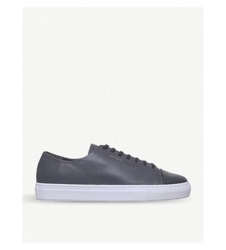 AXEL ARIGATO Toecap leather trainers (Grey/dark