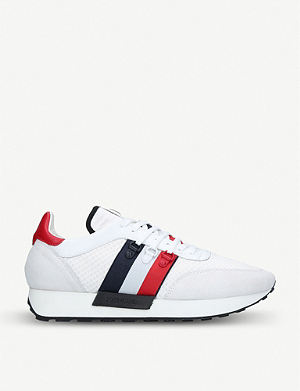 MONCLER New Horace suede and textile trainers