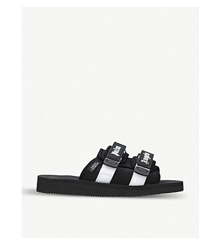 PALM ANGELS Suicoke double-strap slide sandals (Blk/white