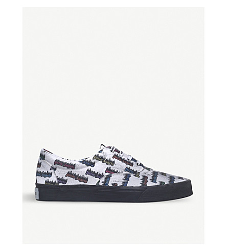 PALM ANGELS Burning logo trainers (White/comb
