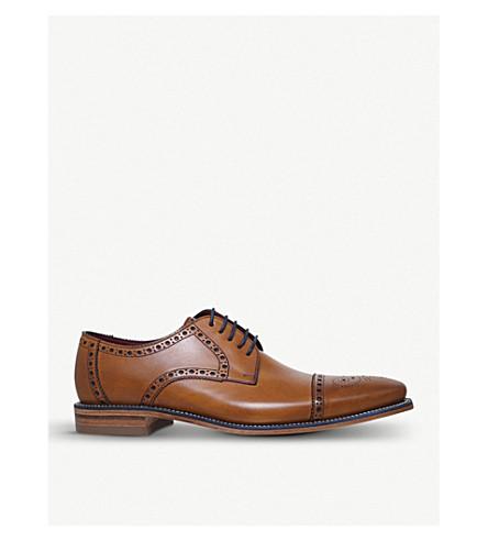 LOAKE Foley brogue leather Oxford shoes (Tan