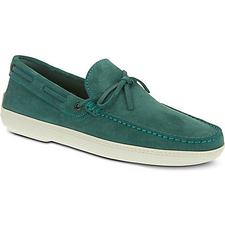 TODS Marlin lace boat shoes (Green