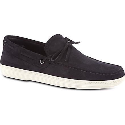 TODS Marlin slip-on boat shoes (Navy
