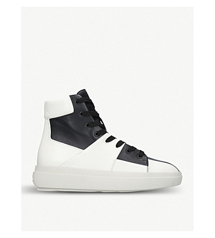 REPRESENT CLOTHING The Alpha Mid leather trainers (Blk/white