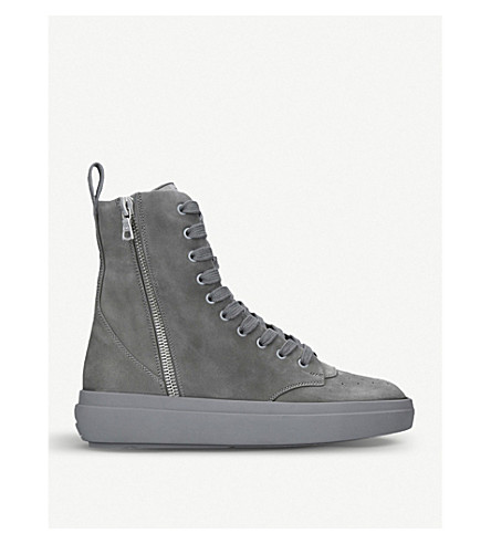 REPRESENT CLOTHING The Alpha Sneaker Boot suede trainers (Grey