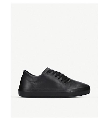 UNONOVANTACINQUE Sauvage low-top leather trainers (Black