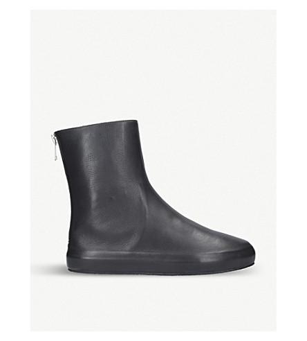 UNONOVANTACINQUE Sauvage leather ankle boots (Grey