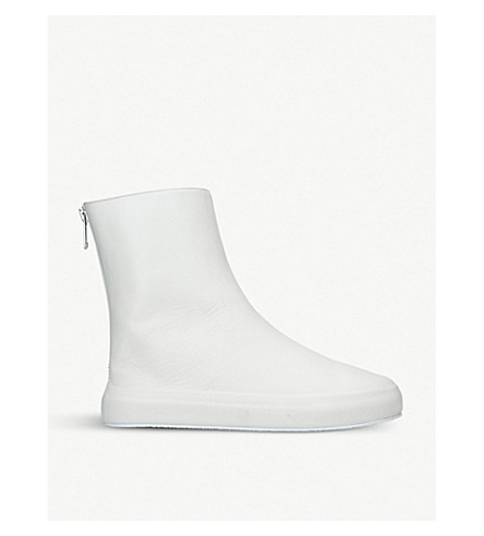 UNONOVANTACINQUE Sauvage leather ankle boots (White
