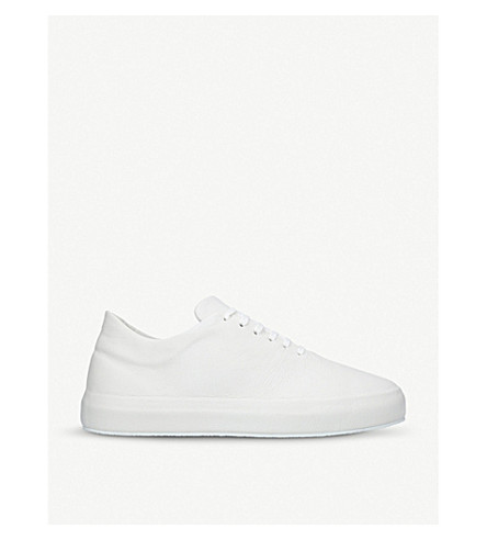 UNONOVANTACINQUE Sauvage low-top leather sneakers (White