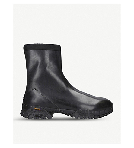 ALYX Laceless leather boots (Black