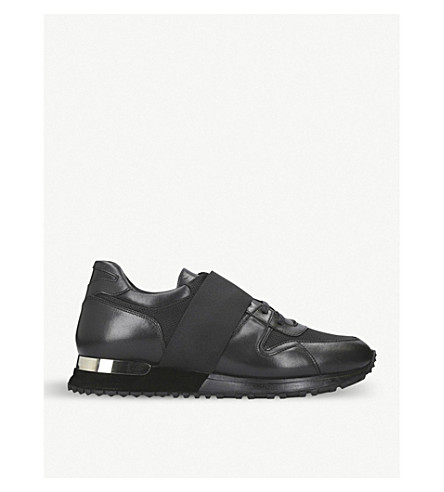 MALLET Almorah leather and mesh trainers (Black
