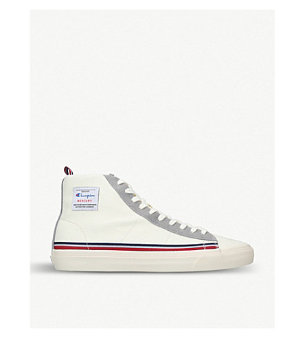 CHAMPION Mercury high-top leather trainers (White