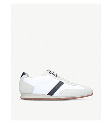 BOSS Orlando suede trainers (White/oth