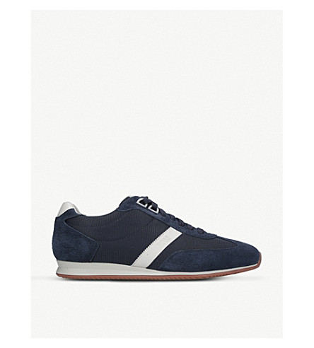 BOSS Orlando suede trainers (Navy