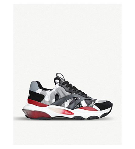 VALENTINO Bounce camouflage-print mesh trainers