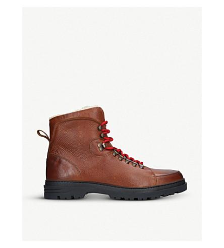 KURT GEIGER LONDON Amber leather hiking boots