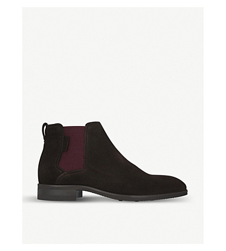 KURT GEIGER LONDON Manhattan suede Chelsea boots