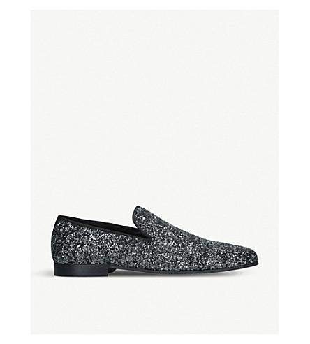 KURT GEIGER LONDON Hugh glittered loafers