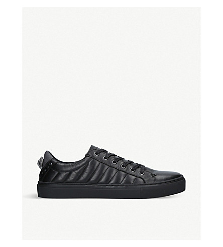 KURT GEIGER LONDON Luda quilted embellished leather sneakers