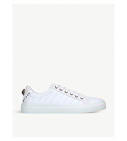 KURT GEIGER LONDON 露达绗缝点缀皮革运动鞋 (白色