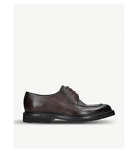 derby cuero zapatos marrón Delantal BARRET oscuro Moor de wq4npO