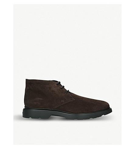 Chukka marrón ante de HOGAN oscuro botas zP1qCZBn