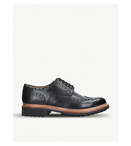 GRENSON 阿奇皮革鞋吧 (黑色