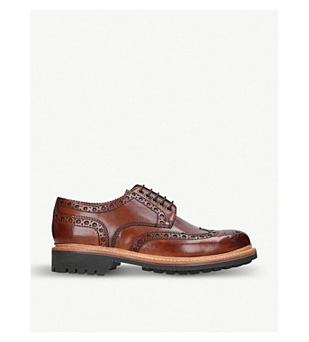 GRENSON Archie leather brogues (Tan