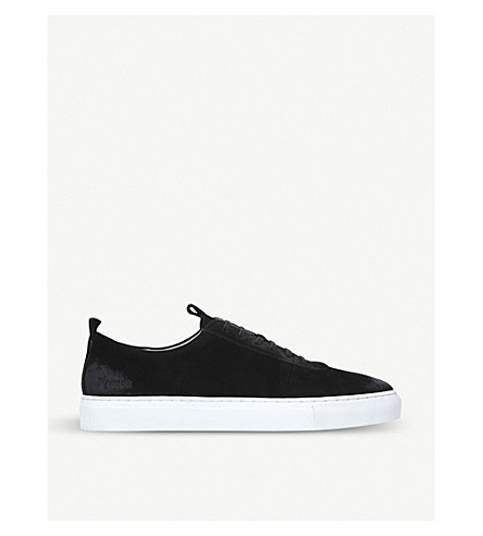 GRENSON Suede low-top trainers (Black
