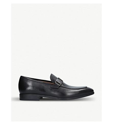 SALVATORE FERRAGAMO Benson buckled leather loafers (Black