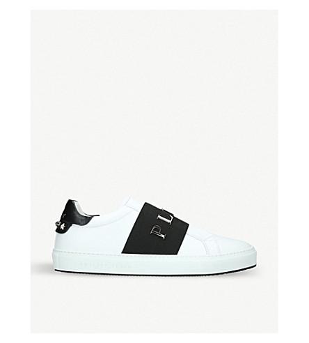 PHILIPP PLEIN 约翰逊 12 皮革点缀运动鞋 (白色/