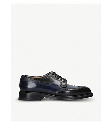 CHURCH 格拉夫对比板皮革德比鞋履 (棕色/其他