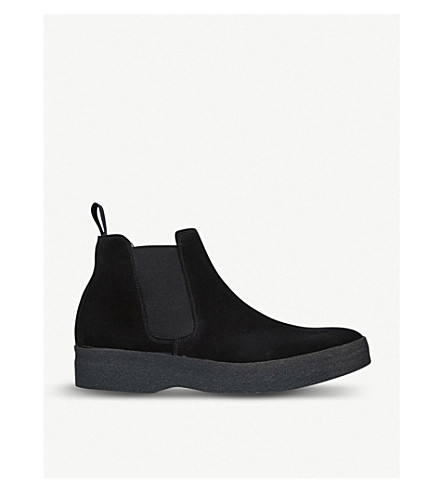SANDERS亚当麂皮绒切尔西靴 (黑色