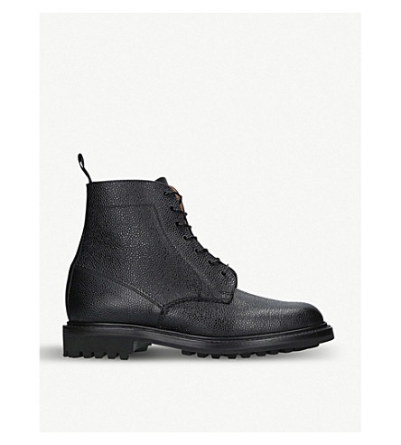 SANDERS Kelso leather boots (Black