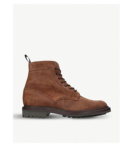 SANDERS 靴子皮革 (中 + 褐色