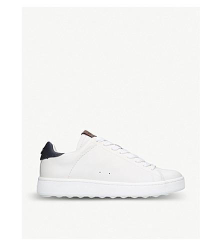 COACH C101 皮革运动鞋 (白色