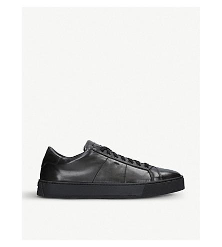 SANTONI 凯莱皮革运动鞋 (灰色/d. 中巴