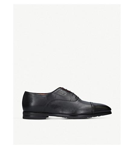 SANTONI Levante leather oxford shoes (Black
