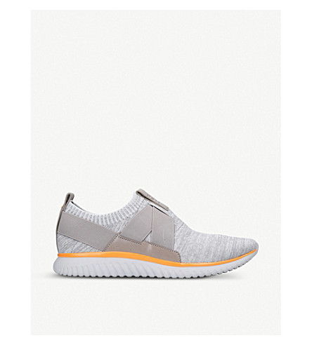 COLE HAAN Knit and leather trainers (Grey/other