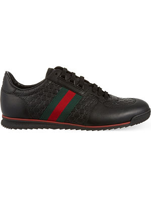 GUCCI SL73 leather trainers