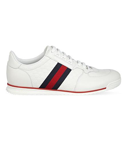 GUCCI SL73 micro GG trainers (White