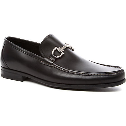FERRAGAMO Magnifico leather loafers (Black