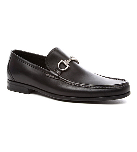 FERRAGAMO Magnifico leather loafers (Black
