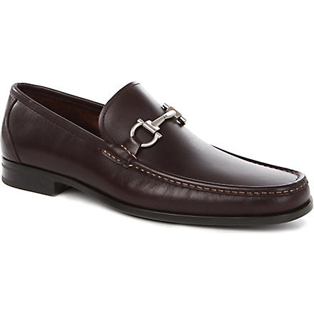 FERRAGAMO Magnifico leather loafers (Brown
